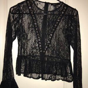 Lace Black long sleeve